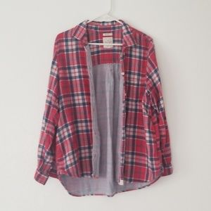Long sleeve red plaid shirt